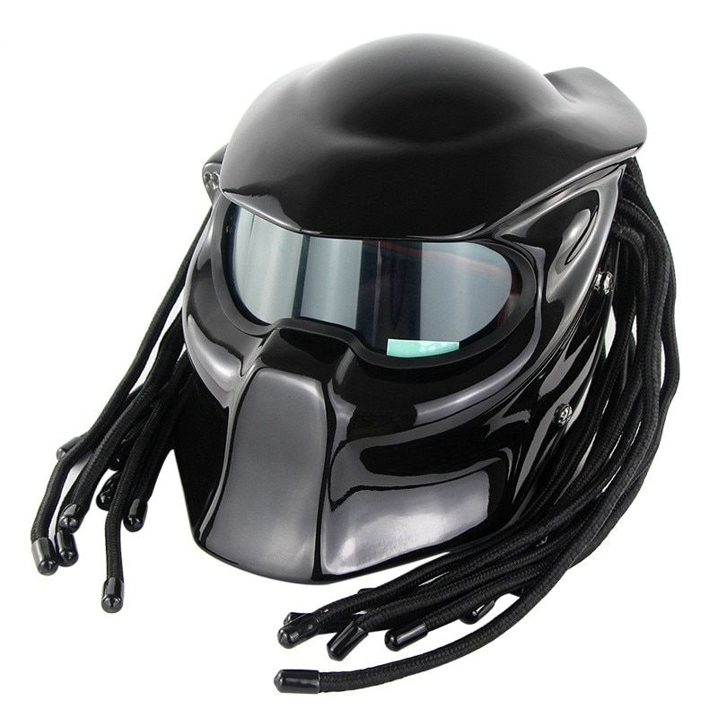 Overlord Predator Motorcycle Helmet Super Personality Braid Riding Helmet With Laser Light