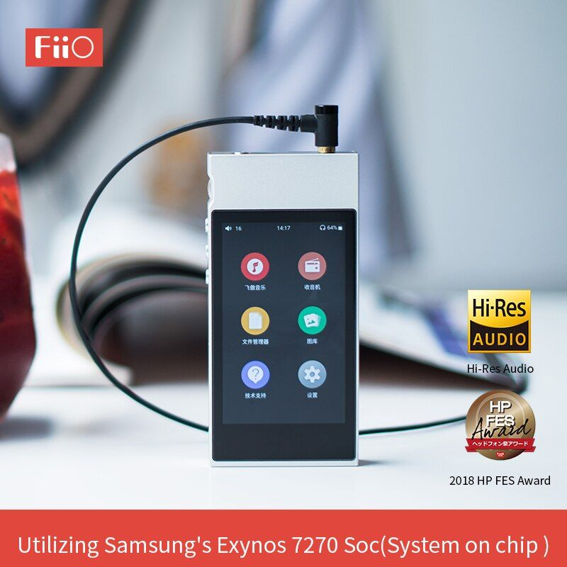 FiiO Metall Fall M7 Bluetooth 4,2 aptX-HD LDAC Hallo-Res Touch Screen LCD Mini Musik MP3 spielen mit FM Radio (Schwarz/Rot/Blau/Silber)