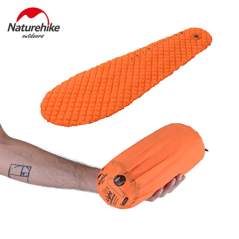 Naturehike Utralight Outdoor <font><b>Camping</b></font> Mat TPU Inflatable Mattress 1 Persom Ultralight Portable Sleeping Pad Airbed New