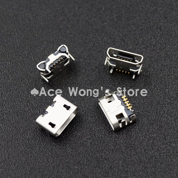 100pcs Micro USB 5P,5-pin Micro USB Jack,5Pins Micro USB Connector