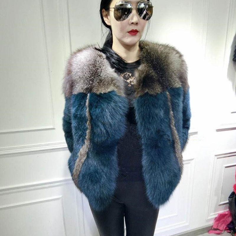 2018 autumn and winter new imported silver fox fur fur coat female short section Slim thin anti-season clearance fashion
