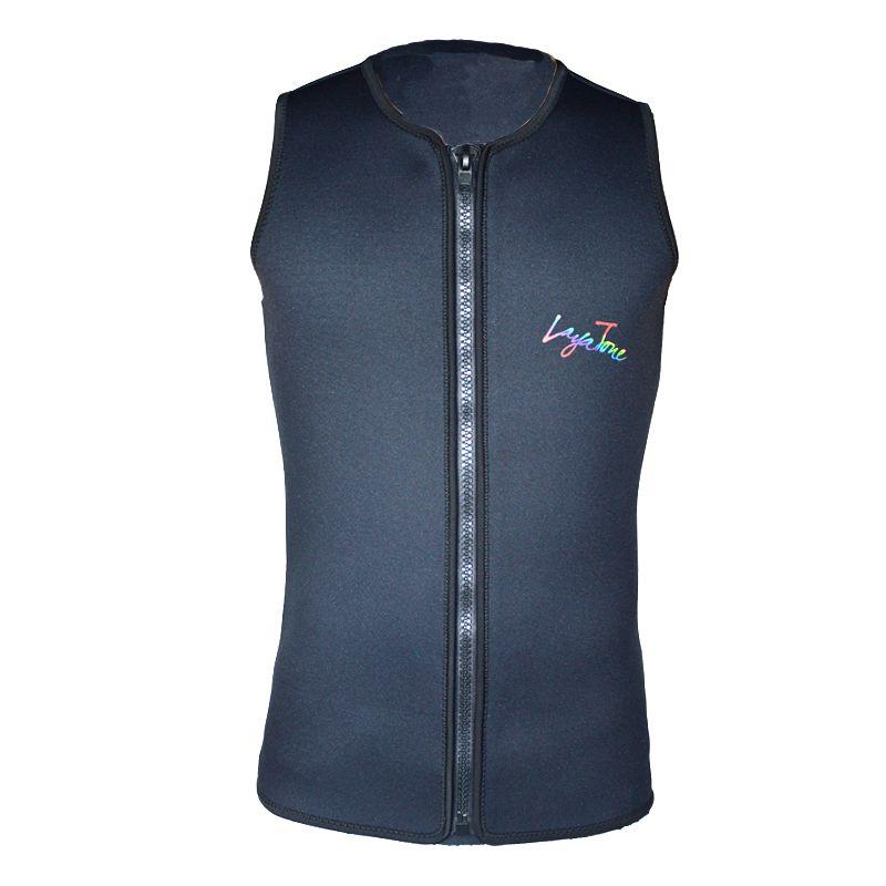 Layatone Black Men Women 3mm Neoprene Vest For Surfing & Diving Spearfishing Water ski Swimming Scuba Dive Wetsuit Jacket