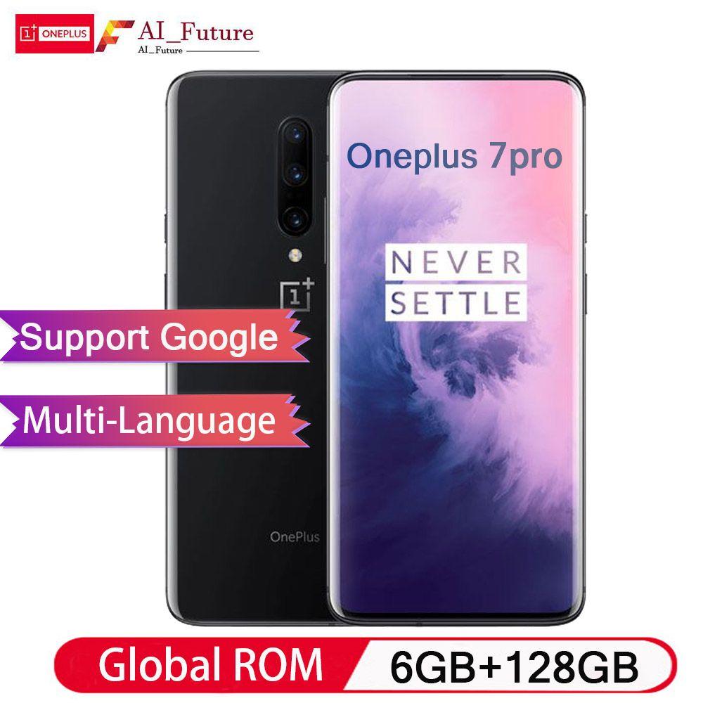 Globale ROM Original Oneplus 7 PRO 6 GB 128 GB Smartphone Snapdragon 855 NFC 6,67 Zoll Flüssigkeit AMOLED Display Fingerprint UFS 3,0
