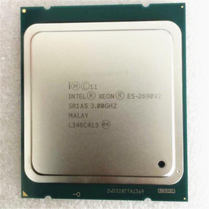 intel Xeon  E5 2690 V2 cpu 10 core Processor  /SR1A5 3.0GHz/ LGA 2011 socket E5 2690 v2 L3/25m
