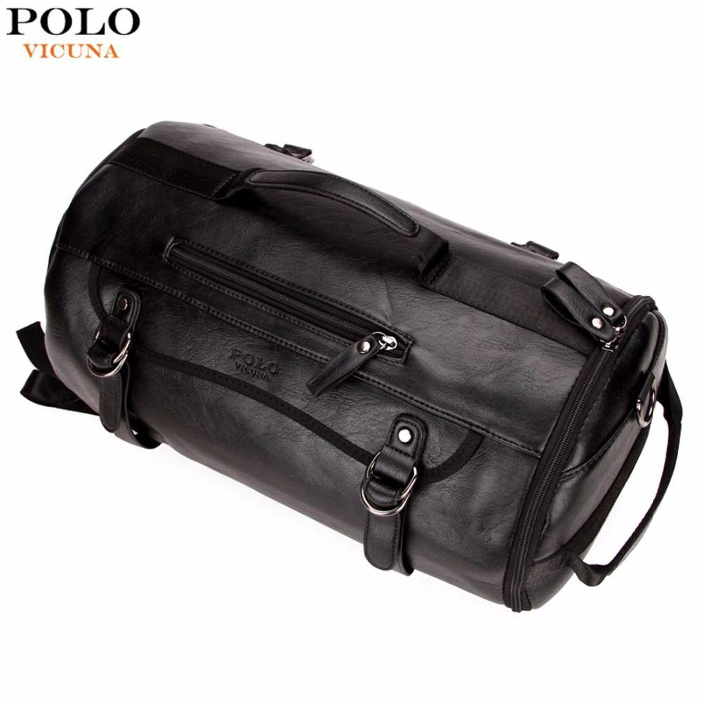 VIKUNJA POLO Persönlichkeit Großen Runde Leder Herren Reisetasche Mode Roll Reiserucksack Für Mann Berühmte Marke Seesack