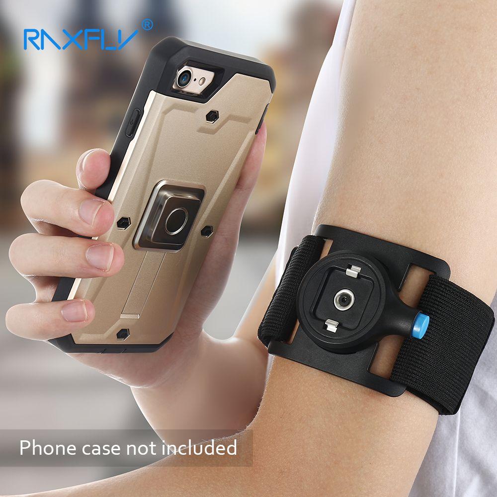 RAXFLY Universel Téléphone Brassard Bras Clip Cas Pour iPhone 6 6 S 7 Plus 5S Samsung S8 Plus Sports de Plein Air Arm Avec Bras Clip Brassard
