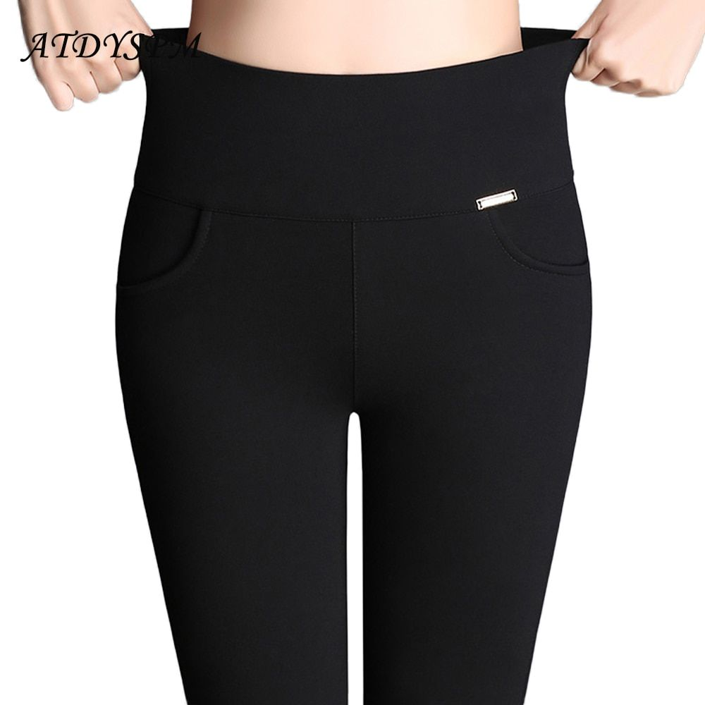 Women <font><b>Office</b></font> Work Pants Leggings Ladies Plus Size 6XL High Stretch Pencil Pants Candy Color Female High Waist Pants Trousers