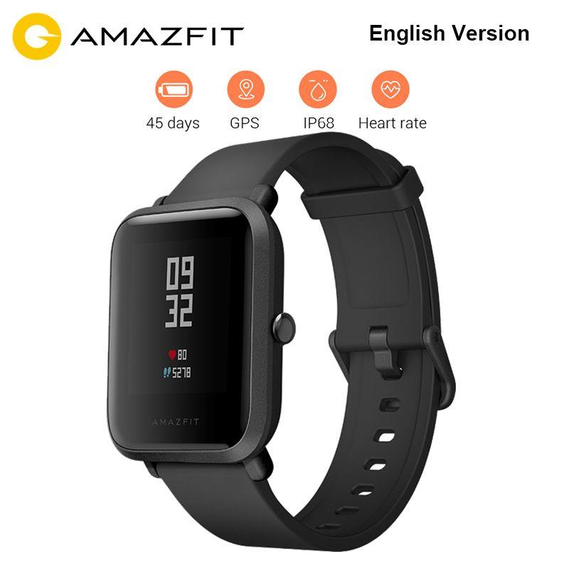 Original Xiaomi Huami Amazfit Bip BIT PACE Lite Youth Verison Smart Watch Mi Fit IP68 Waterproof Glonass+GPS English Version