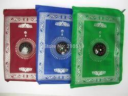 MA003 Perjalanan Muslim Compass Saku Ukuran Protable Prayer Alas 100*60 Cm
