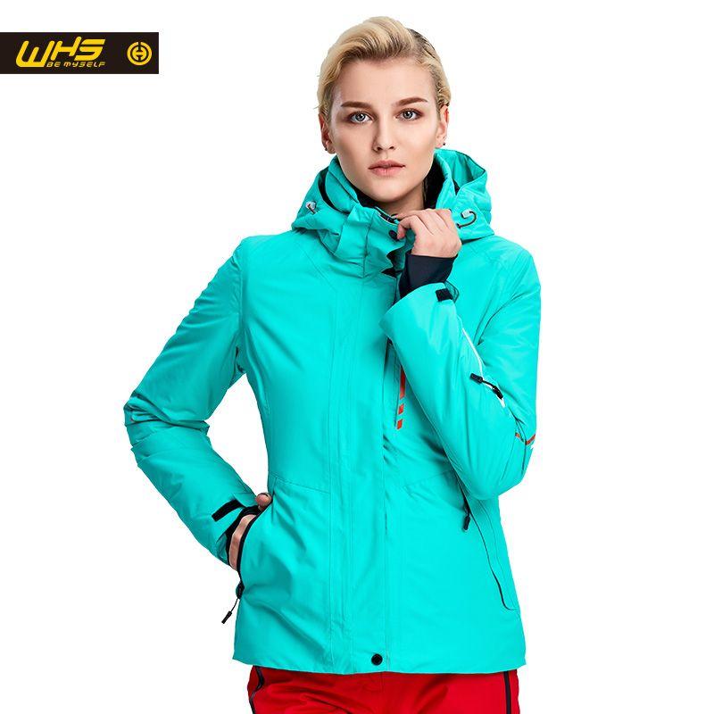 WHS Neue Frauen ski Jacken winter Im Freien Warme Schnee Jacke mantel weibliche wasserdichte schnee jacke damen atmungsaktive sport kleidung