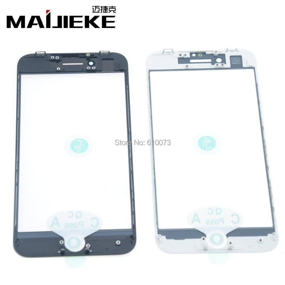 MAIJIEKE Top AAA+ Cold Press 3 in 1 Front Outer Glass Lens With Frame&OCA for iphone 8 7 6s plus 6 5 5s 5c Glass Refurbish Parts