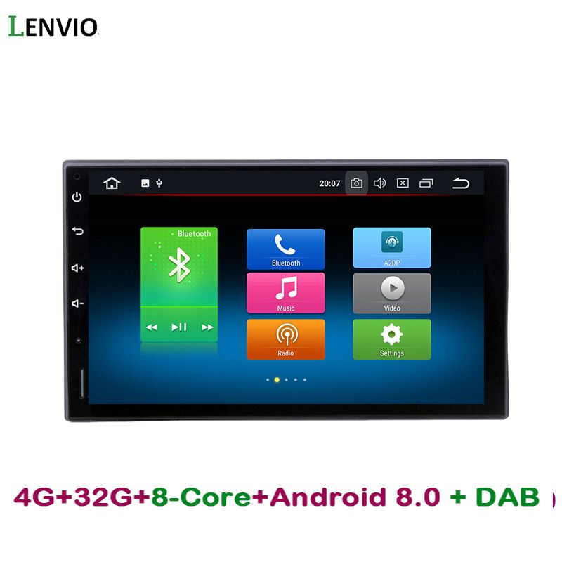 Lenvio RAM 4G ROM 32G Octa Core Android 8.0 Car Radio GPS Navigation For Universal car Nissan Hyundai Honda car dvd player DAB+