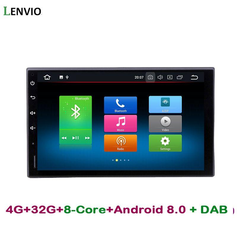 Lenvio RAM 4G ROM 32G Octa Core Android 8.0 Car Radio GPS Navigation For Universal car Nissan Hyundai Honda car dvd player DAB+