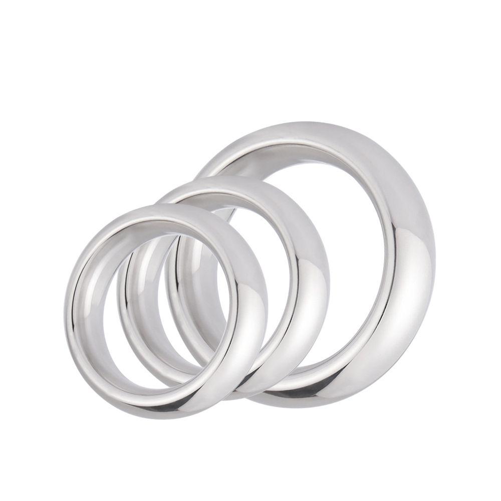 1 PC acier inoxydable anneau de pénis en métal impuissance aide à l'érection Performance rehausseur retard éjaculation jouets sexuels pour hommes 40/45/50mm