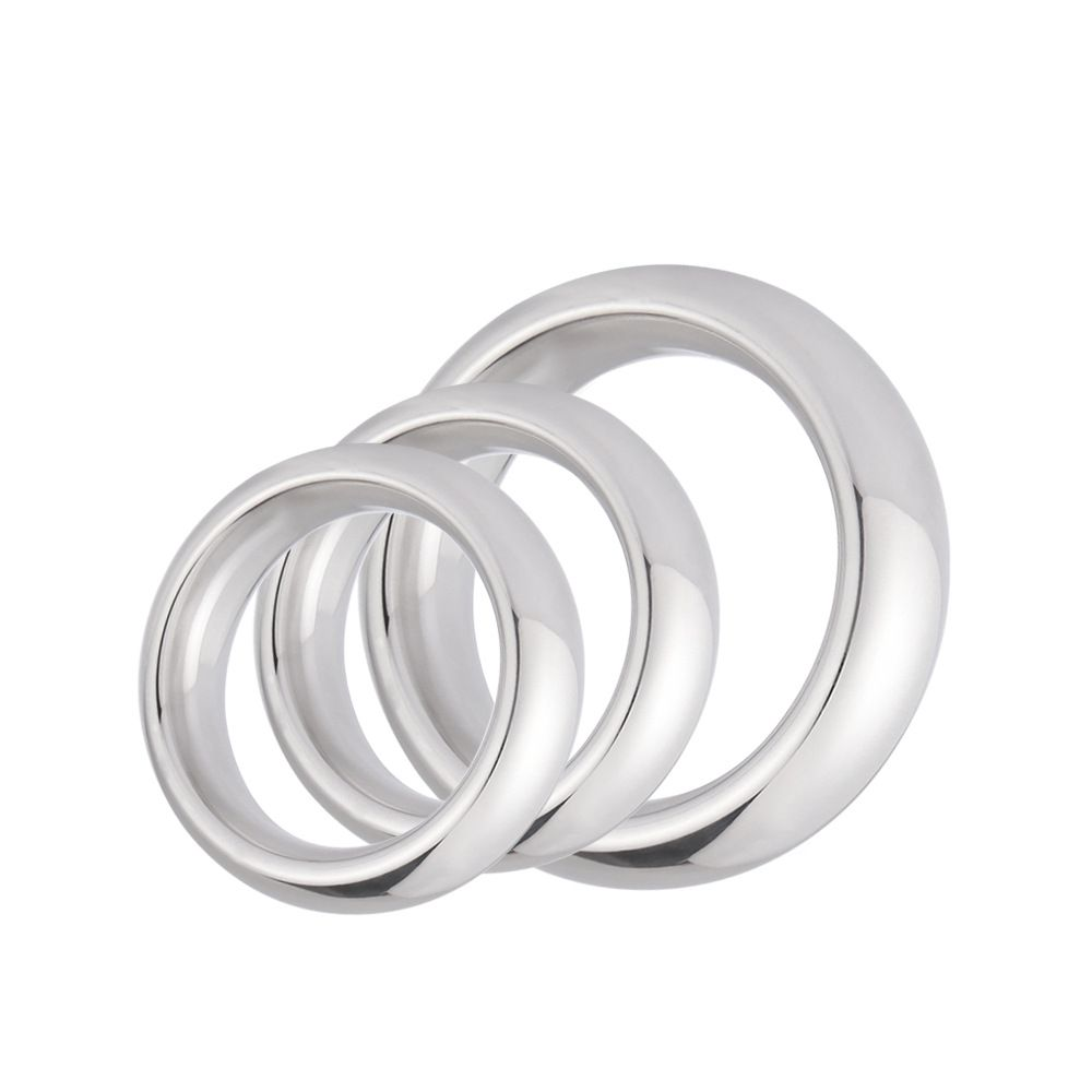 1PC Stainless Steel Penis Ring Metal Impotence Erection Aid Performance Enhancer Delay Ejaculation Sex Toys for Men 40/45/50mm