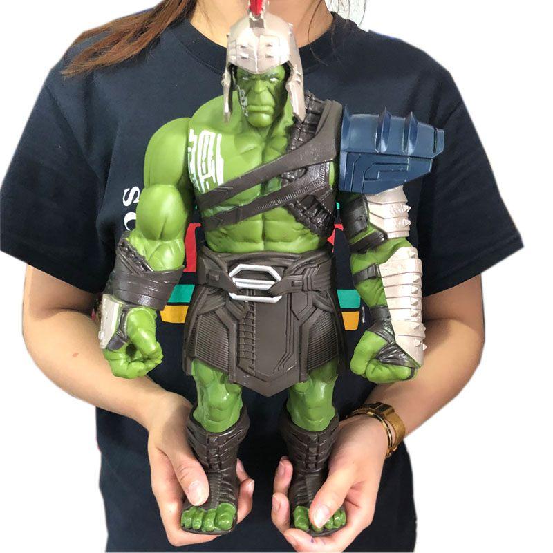 35 cm grande taille Avengers Marvel Thor 3 Ragnarok mains mobiles marteau bataille hache gladiateur Hulk BJD figurine modèle jouet