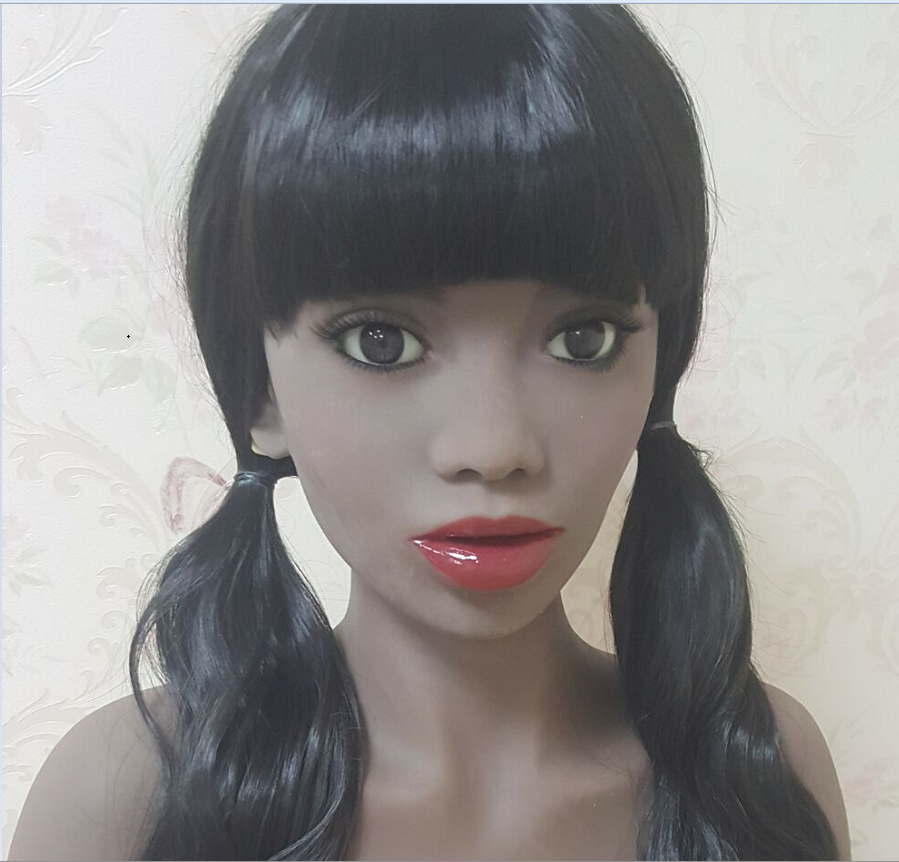 #88 doll silicone african TPE doll head for big size love doll 135cm/140cm/148cm/153cm/152cm/155cm/158cm/163cm/165cm/170cm