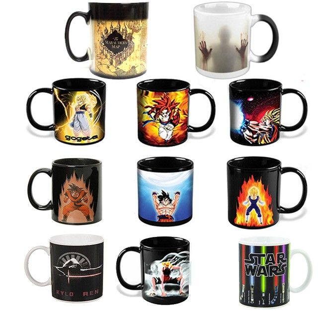 Les morts-vivants/Star wars/Dragon Ball Z/Batman vs Superman/Captain America tasse Magique Réactive tasse Changeante De couleur de Tasse de Café