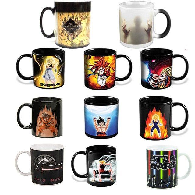 The walking dead/Star wars/Dragon Ball Z/Batman vs Superman/Captain America mug réactif magique changement de couleur tasse tasse à café