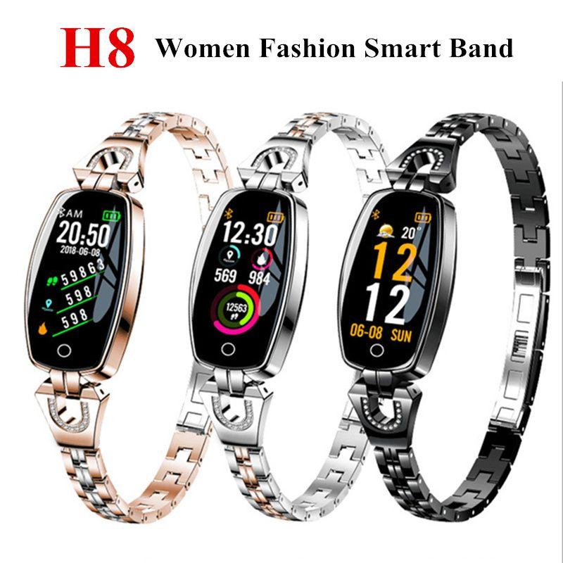 H8 Femmes bracelet intelligent bracelet de fitness Fréquence Cardiaque bracelet connecté Sang Pression montre fitness tracker montre connectée montre à bracelet intelligent