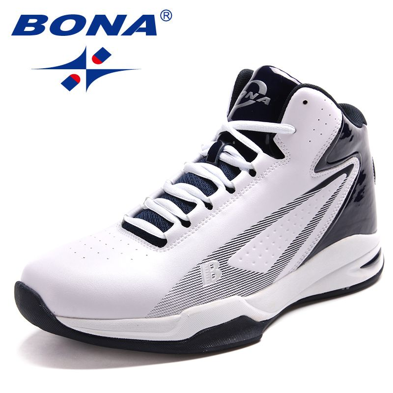 BONA New Popular Style Men Basektball Shoes Ankle Boots Men Sneakers Outdoor Jogging Shoes Male Light Soft Fast Free Shipping
