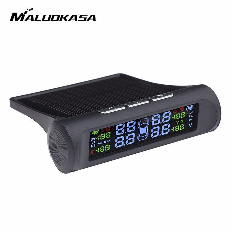 Smart Car TPMS Tyre Pressure Monitoring System Solar Power HD Digital LCD Display Auto Security Alarm System Tyre Pressure