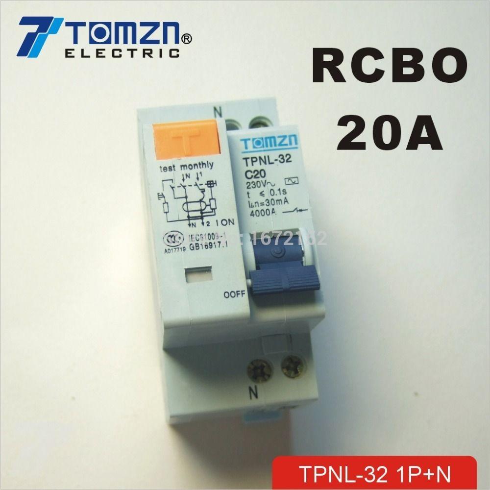 DPNL 1 P + N 20A 230 V ~ 50 HZ/60 HZ fehlerstromschutzschalter mit über strom und Leck RCBO