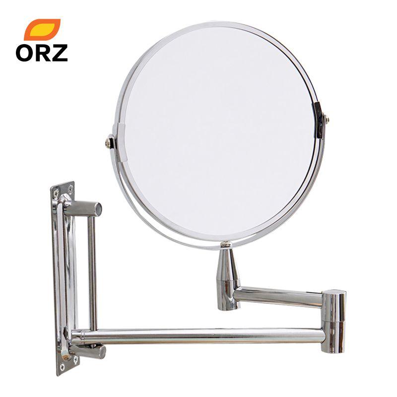 ORZ miroir mural étendre Double face salle de bain cosmétique maquillage rasage face Rotatalbe 7 3X miroir grossissant