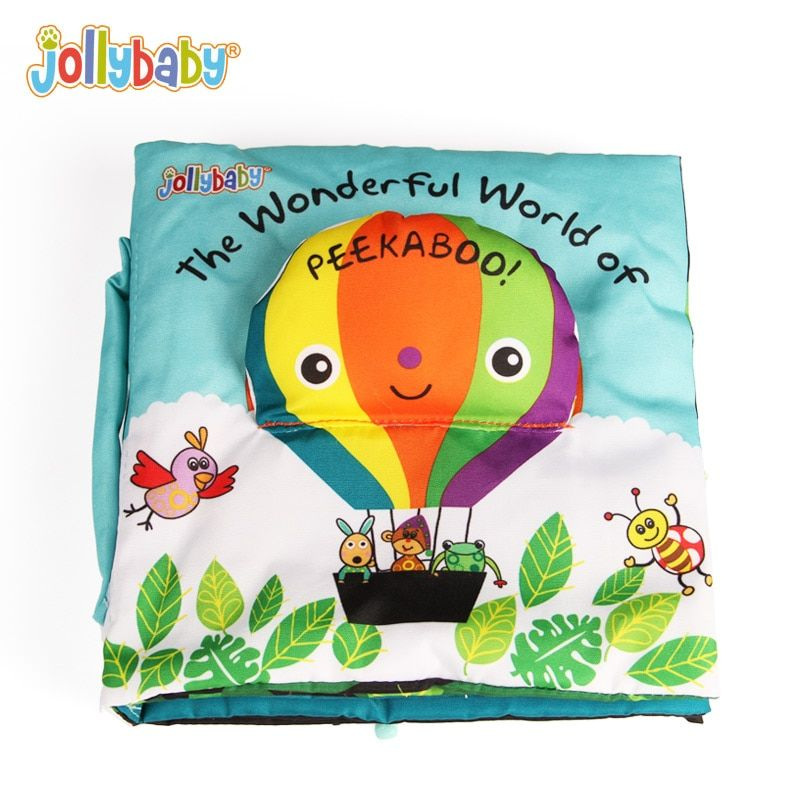 Jollybaby Baby Book Children Activity Soft Quiet Cloth Books For Kids Peek A Boo Educational Game Story Infant Books Toys Gift