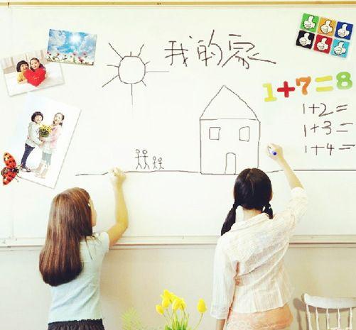 Amovible Tableau Blanc Avec Stylo Tableau Blanc Papier Mur Sticker Tableau Noir Pour Chambres D'enfants Papier Peint Enfants Art