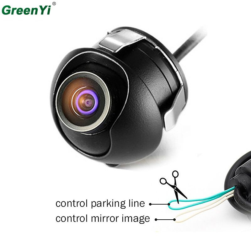 CCD HD Night Vision Car Camera Front/Side/Left/Right /Rear View Camera 360 Degree Rotation Universal Car Reverse Backup Camera