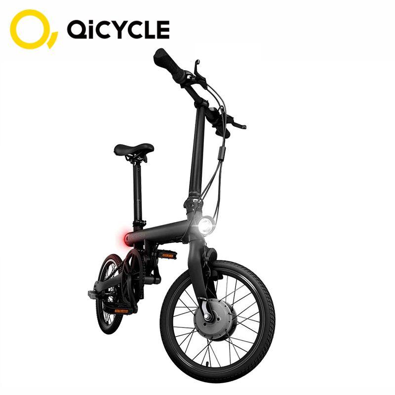 Original Mijia QiCYCLE Elektrische Fahrrad EF1 Mini Elektrische Ebike 16 Zoll Smart Faltrad Smart Fahrrad Drehmoment Sensor Moped Xiaomi