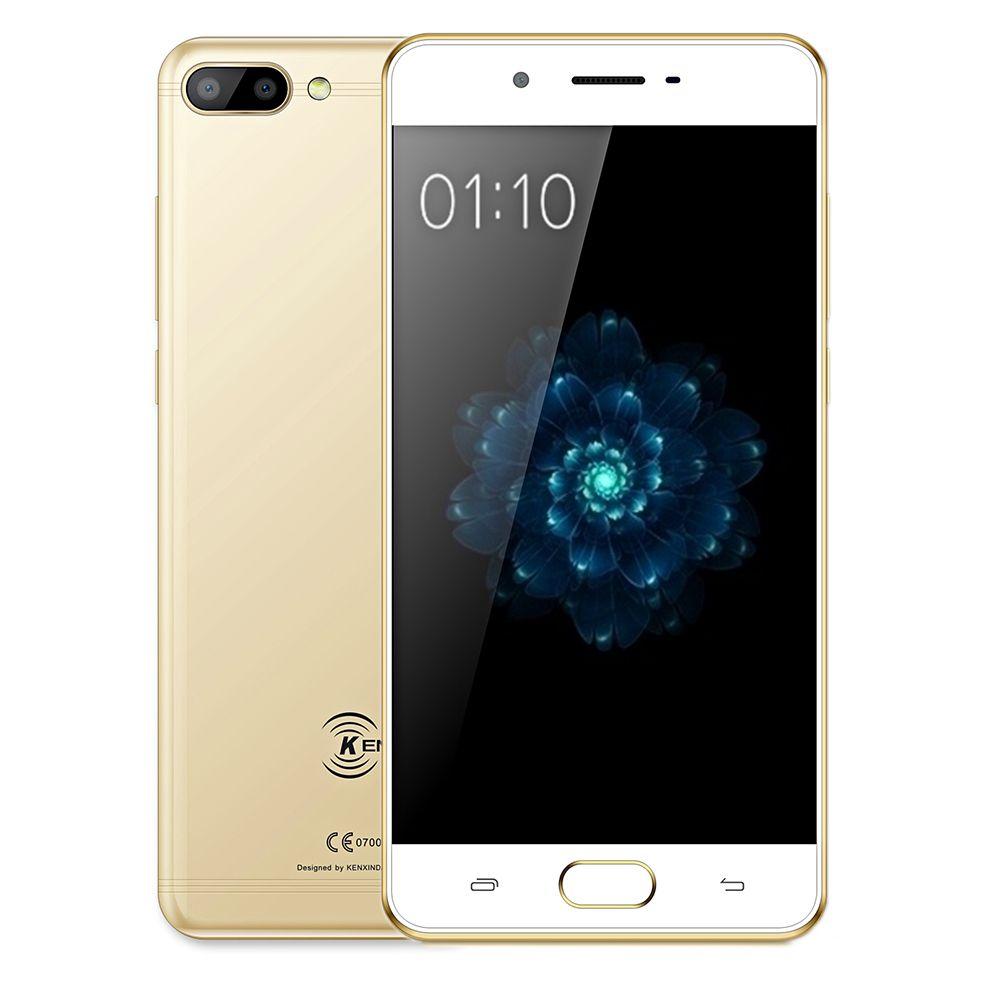 KENXINDA X6 4G Smartphone 5.0 Inch Android 7.0 MTK6737 Quad Core 1.3GHz 3GB+32GB Fingerprint 8MP+13MP Rear Cameras Mobile Phone