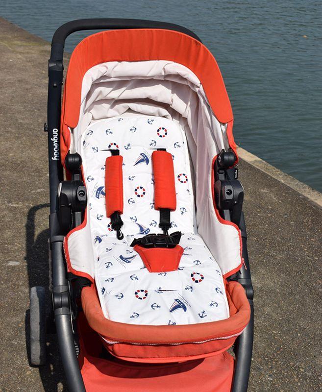Coussin de siège de voiture bébé landau matelas enfants Protection de siège accessoire Liner 5 points harnais poussette tapis poussette Support coussin
