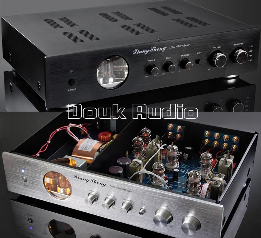 Music Hall Latest High End XiangSheng 728A Vacuum 12AT7 12AU7 Tube Pre-Amplifier Stereo HiFi Preamp Audio Processor