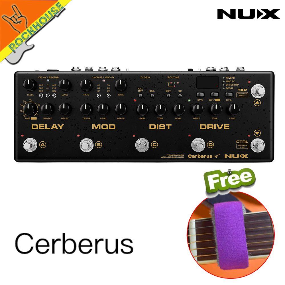 NUX Cerberus Multi Funktion Effekte-pedal Prozessor Integrierte Analog Overdrive Distortion Modulation und Verzögerung Module