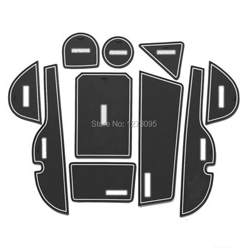 Car Accessories for Toyota RAV4 RAV 4 2009 2010 2011 2012 2013 2014 2015 Gate Slot Pad Non-slip Cup Mat Antislip Door Groove Mat