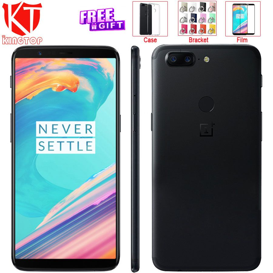Original OnePlus 5T 5 T 6 RAM 64 ROM Mobile Phone Snapdragon 835 Octa Core 6.01 18:9 Screen 20MP+16MP Rear Camera 4G Cellphone