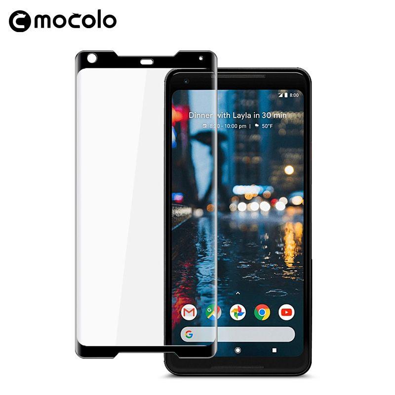 Pour Google Pixel 2 protecteur d'écran Original Mocolo couverture complète 9 H 3D film de verre trempé pour Google Pixel 2 XL protecteur d'écran