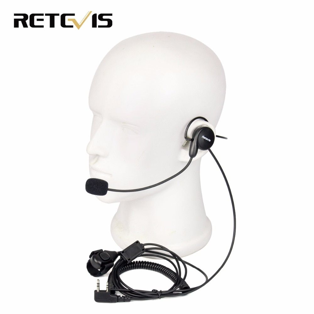 Retevis 2 Pin Earpiece Mic Finger PTT Headset for Kenwood BAOFENG UV-5R BF-888s Retevis H777 RT5 Ham Radio Hf Transceiver C9029A