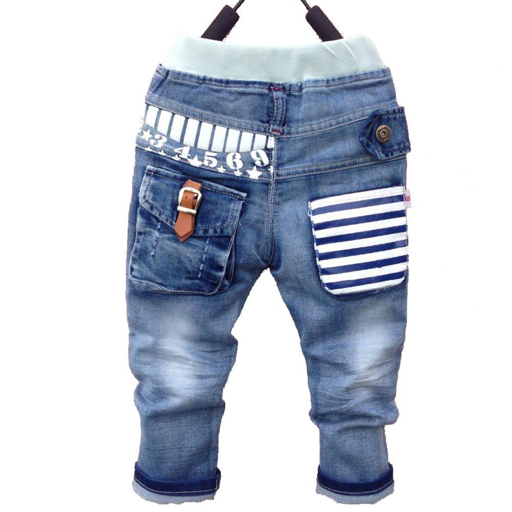 New18M-6Y verano Primavera boy pantalones vaqueros otoño niños de los pantalones vaqueros de mezclilla niño pantalones de los niños pantalones Envío Libre