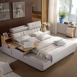 1.5 m 1.8 m customized Leather Bed Frame for bedroom   #CE-8008