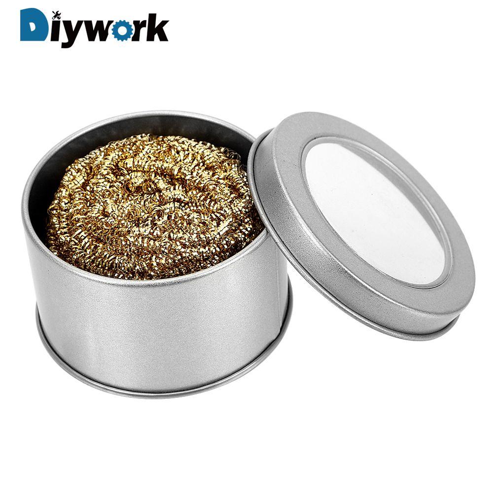 DIYWORK Abwischen Hilfs Werkzeug Mechanische Zubehör Schweißen Löten Eisen Spitze Reiniger Kupfer Draht Form Schweißen Reinigung Ball