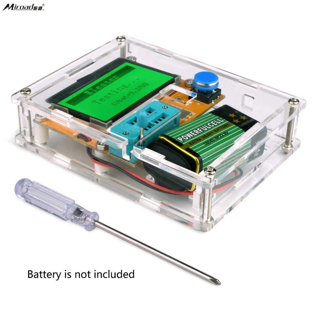 Miroad Multifunction Meter DIY kit, Mega 328 Graphic transistor Tester, NPN PNP Diodes Triode Capacitor ESR SCR MOSFET K77