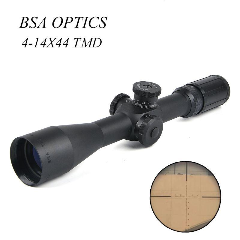 BSA OPTIK TMD 4-14X44 FFP Gewehr Sight Jagd Zielfernrohr Taktische Zielfernrohr Sniper Getriebe Air Soft Gun Jagd
