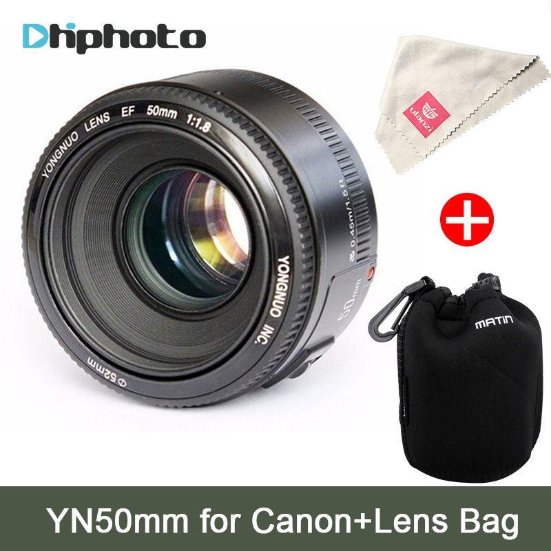 YONGNUO YN50mm Lens fixed focus EF 50mm F1.8 AF/MF lense Large Aperture Auto Focus Lens For Canon EOS 60D 70D 700D DSLR Camera