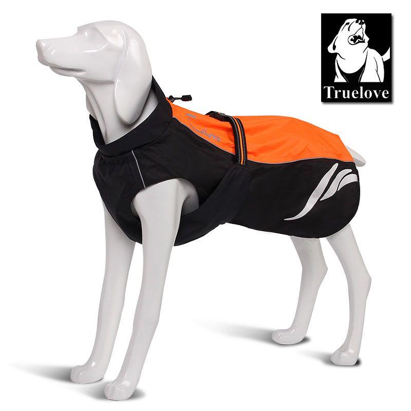 Truelove imperméable à l'eau réfléchissant rayé chien manteau gilet extérieur marche chien imperméable en Nylon Pet veste pour toutes les races de temps en stock