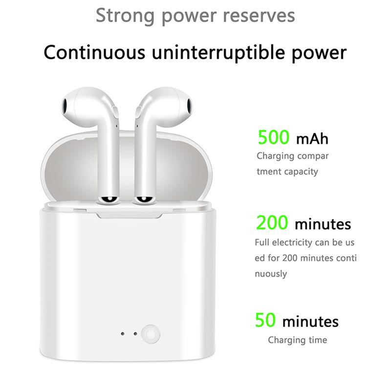 Nouveau i7S TWS Mini Bluetooth Écouteurs D'origine Casque Stéréo Basse Sans Fil Casque Écouteurs avec Micro pour Tous Les téléphone Intelligent