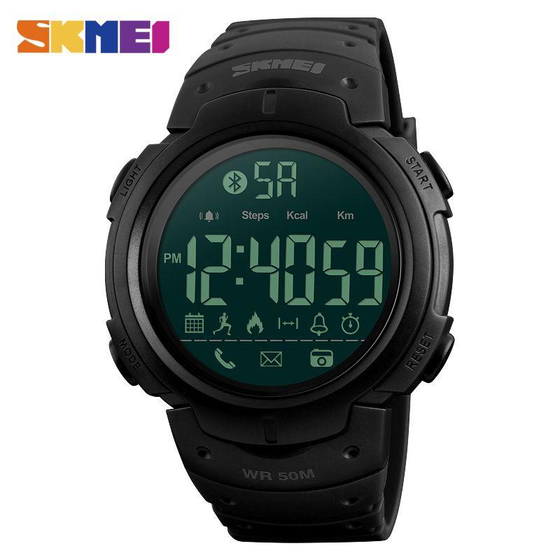SKMEI Fashion Smart Watch Men Calorie Pedometer Bluetooth Watches Remote <font><b>Camera</b></font> Waterproof Wristwatches Clock Relogio Masculino