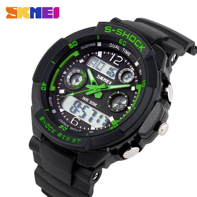 S CHOC 2017 De Luxe Marque Hommes Montres De Sport Militaire Numérique LED Montre À Quartz Montre-Bracelet Relogio Reloj SKMEI Horloge Relojes